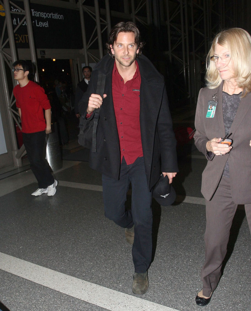 Bradley Cooper made his way through LAX.