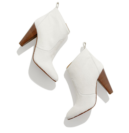 Think outside the box with these ultrachic, everyday Madewell Old Town Boots ($280, originally $398) in white calf hair.