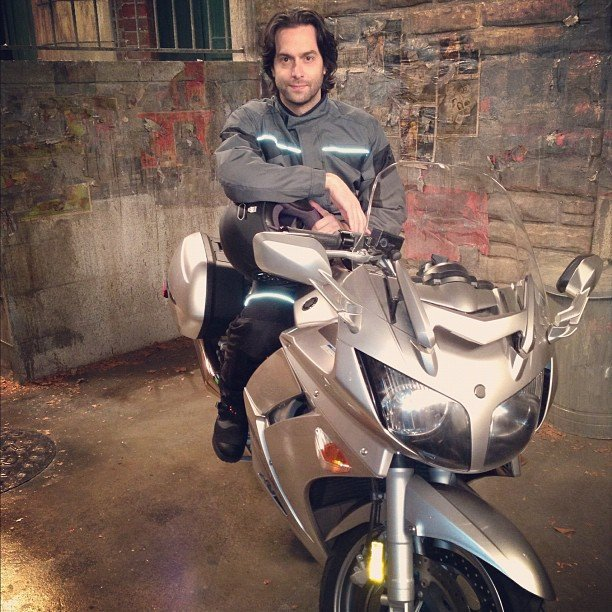 Whitney's Chris D'Elia turned into a badass on a bike. Source: Instagram user therealwhitney
