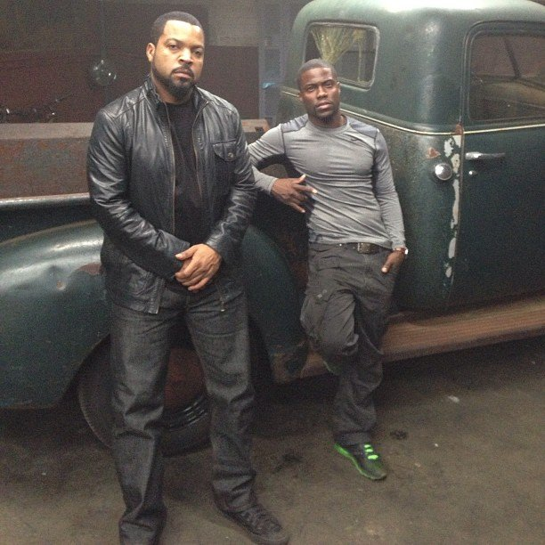 Ice Cube and Kevin Hart wrapped their upcoming movie, Ride Along. Source: Instagram user kevinhart4real