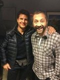 Judd Apatow met fellow Jimmy Kimmel Live guest Tom Cruise. Source: Twitter user JuddApatow