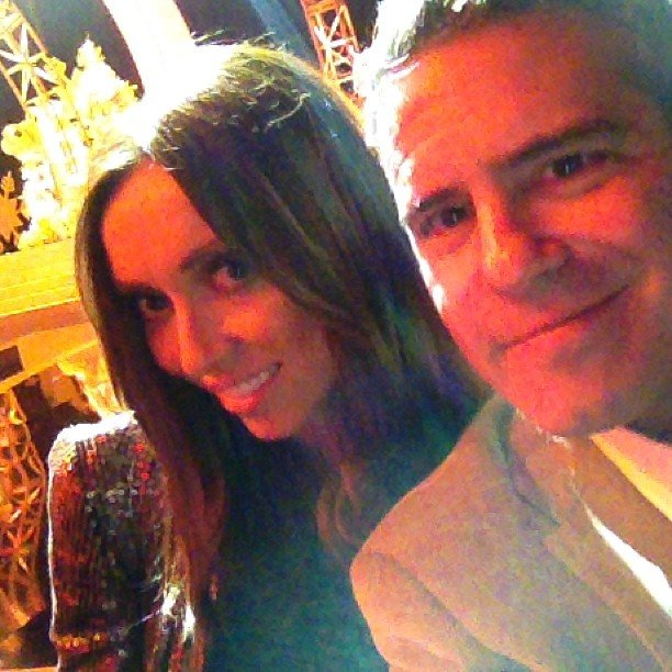 Andy Cohen and Giuliana Rancic rehearsed for the Miss Universe Pageant. Source: Instagram user bravoandy