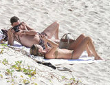 Kate Moss wore a bikini while posing for husband Jamie Hince.