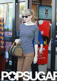 Taylor Swift left an LA grocery store.