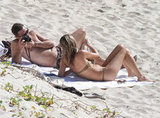 Jamie Hince snapped sweet photos of Kate Moss while they relaxed on the beach in St. Barts during a December 2012 trip.