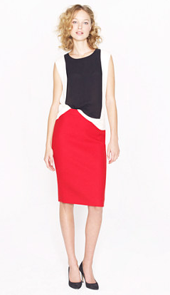 Every lady needs a good pencil skirt in her closet so invest in this J.Crew red wool pencil skirt ($98, originally $130). It also comes in a variety of other colors.