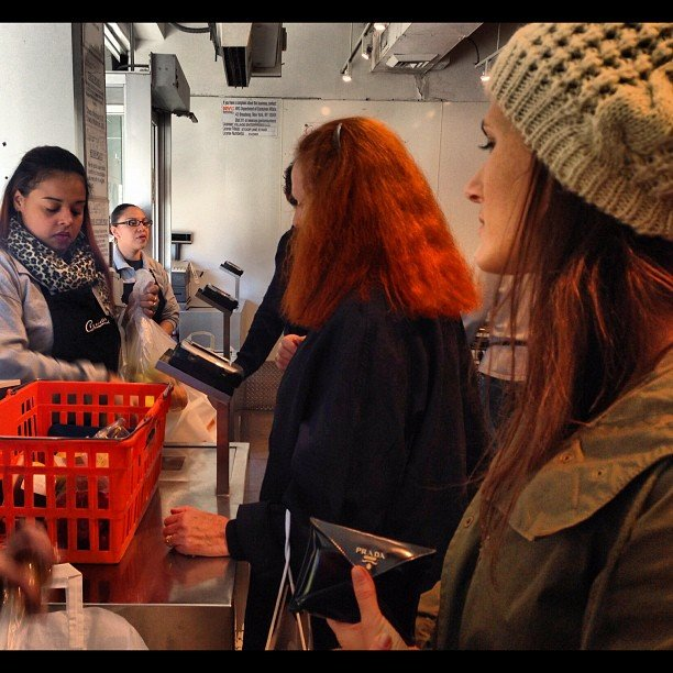 Just grocery shopping with Grace Coddington — no big deal.