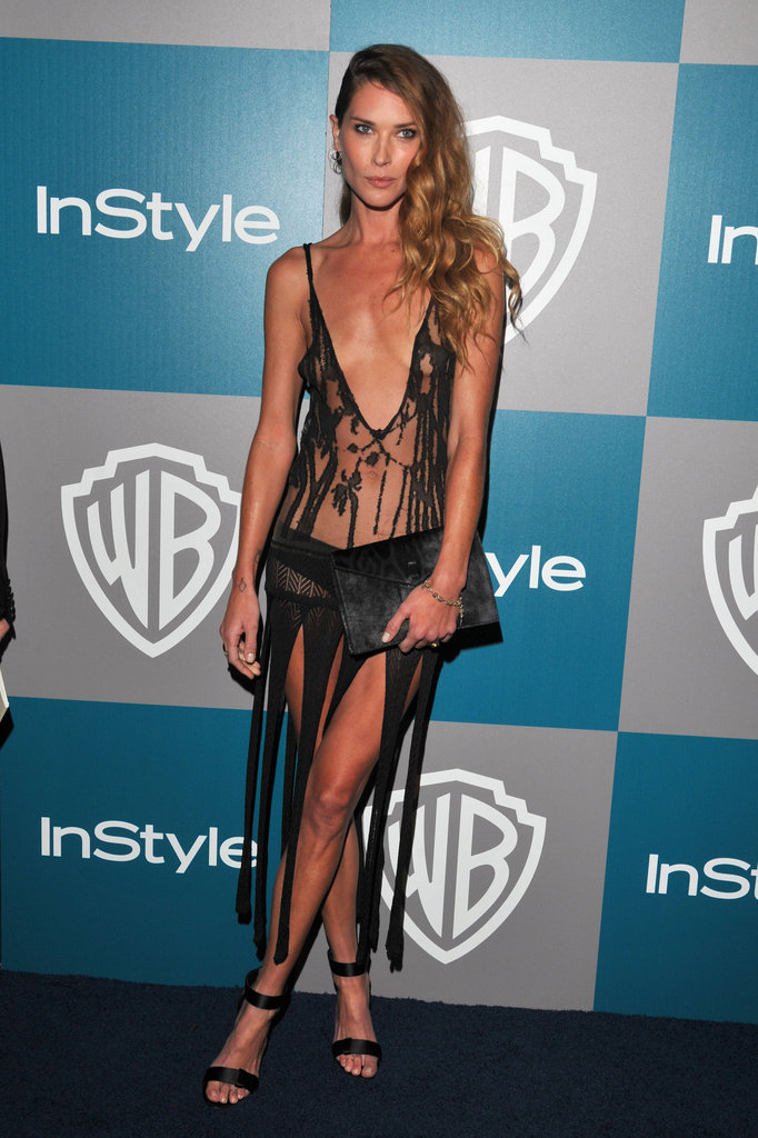 Erin Wasson gave us nothing short of skin-baring, peekaboo details to the extreme at the InStyle Golden Globes afterparty.