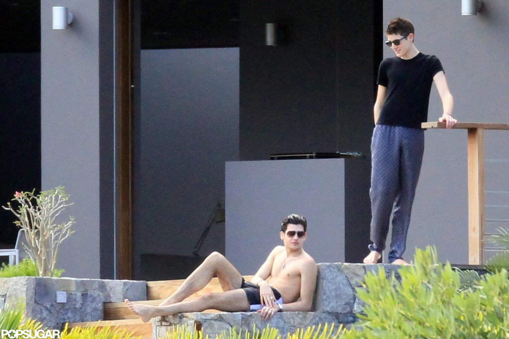 Harry Brant and Peter Brant II soaked up the sun.