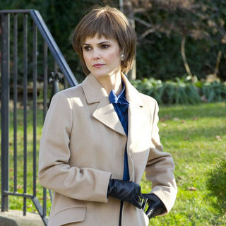 Keri Russell Filming The Americans With Short Hair