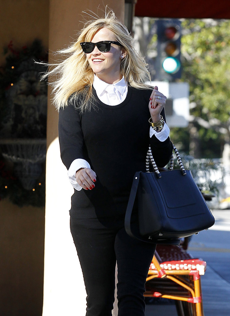 Reese Witherspoon smiled while running errands in LA.