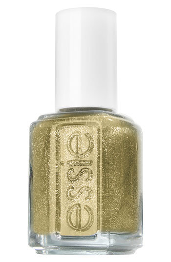 Essie's gold glitter polish ($8) will inject a fun pop of shine into your NYE outfit.