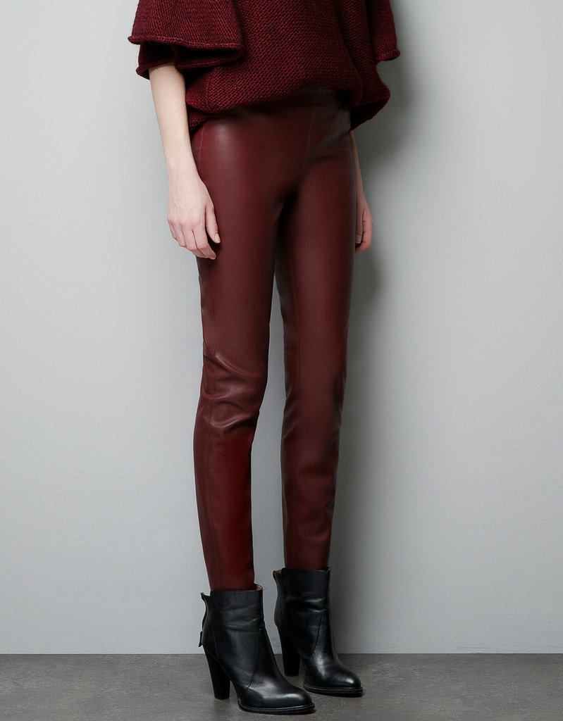 Zara Leather-Effect Leggings ($60, originally $80)