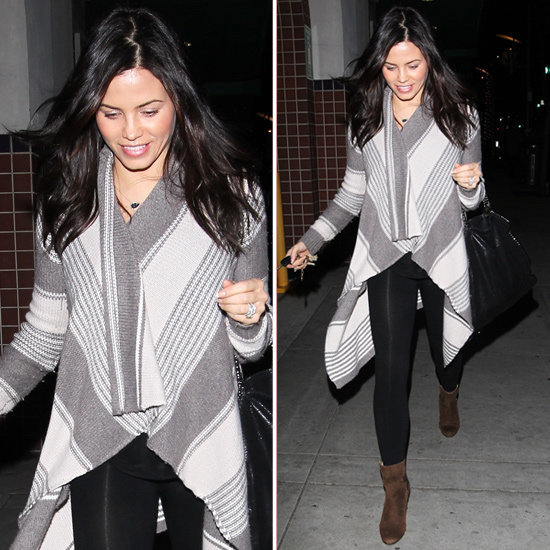 Mom-to-be Jenna Dewan gave us ample reason to believe that blanket stripes are perfectly cool to wear, pregnant or not.