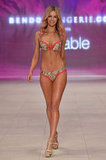 Jen strutted down the catwalk for Bendon in Lovable lingerie in Sydney in Aug. 2012.