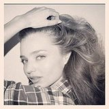 Miranda Kerr struck a pose for famed photographer Terry Richardson. Source: Instagram user mirandakerrverified