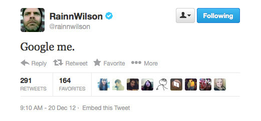 Will do, Rainn Wilson.