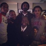Snoop Dogg posed with his family at a Lakers game. Source: Instagram user snoopdogg