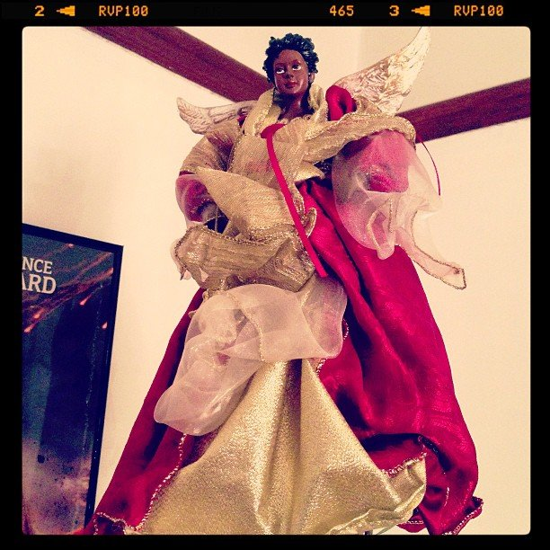 Tristan Wilds shared his grandmother's tree topper on Instagram. Source: Instagram user tristanwilds