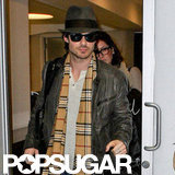Ian Somerhalder caught a flight out of LAX.