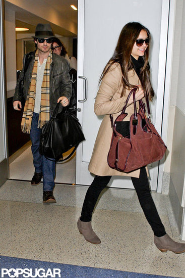 Nina Dobrev and Ian Somerhalder traveled together.