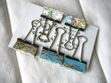 Vintage Map Binder Clips