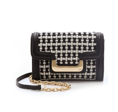 The woven texture on this  Diane von Furstenberg New Harper Charlie Wool Bag ($207, originally $295) would look especially sweet with your cable-knit sweaters and skinny jeans.