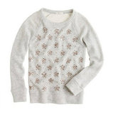 J.Crew Jeweled Snowflake Sweatshirt