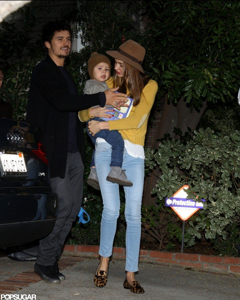 Miranda Kerr and Orlando Bloom Reunite in LA With Flynn
