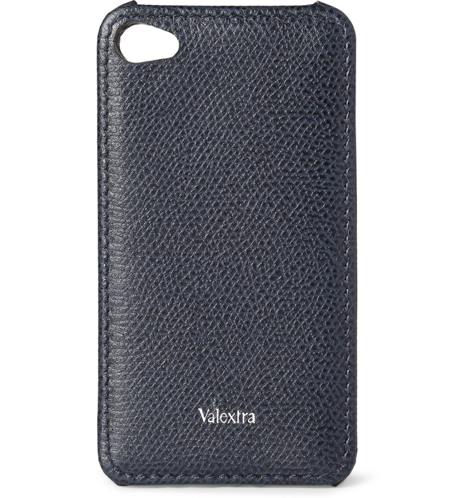 Leather iPhone cases have become a necessary luxury in my opinion, and none are more luxurious than this blue leather case ($230) from Valextra.  — RK