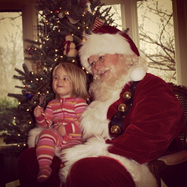 """Santa made a home visit this year!"" Source: Instagram user katestahl"