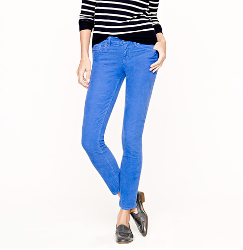 """There's no time like right now to be taking full advantage of """"corduroy weather,"""" and I'm making a case for the brightest version of it with these J.Crew toothpick cords ($88) in brilliant blue. They're colorful, fun, and totally functional for the seasonal chill — what's not to love? — Marisa Tom, associate editor"""