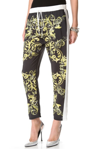 If these Clover Canyon neon filigree pants ($216) are outside your comfort zone, then you can tame with them a basic tee and flats.