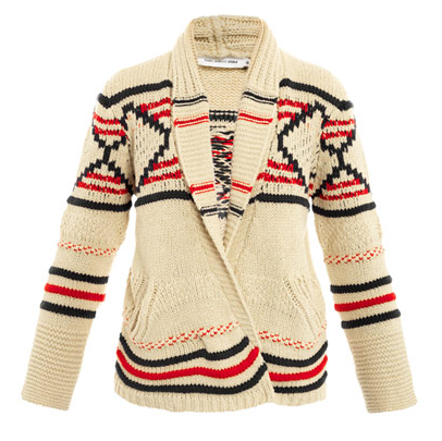 What better way to bundle up than with Étoile Isabel Marant Killiann cardigan ($570)? I'll feel après-ski chic, even if I'm just using it to layer up around the apartment on Sunday morning. — Hannah Weil, associate editor