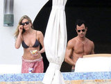 Bikini-Clad Jennifer and Shirtless Justin Share Tacos and PDA