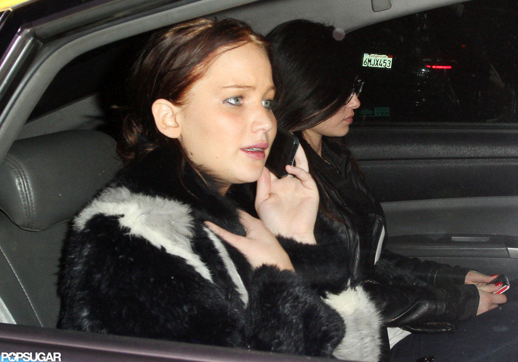 Jennifer Lawrence left the Chateau Marmont.