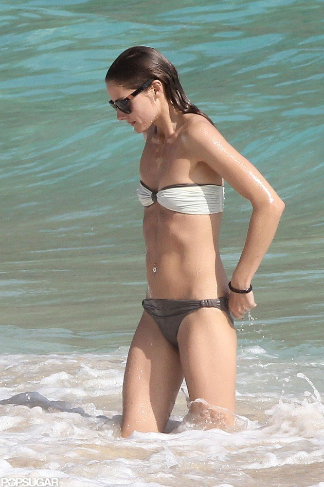 Olivia Palermo Brings Her Bandeau Bikini to the Beach