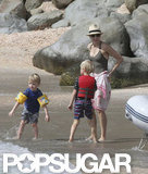 Naomi Watts and Samuel and Kai Schreiber vacationed in St. Barts.