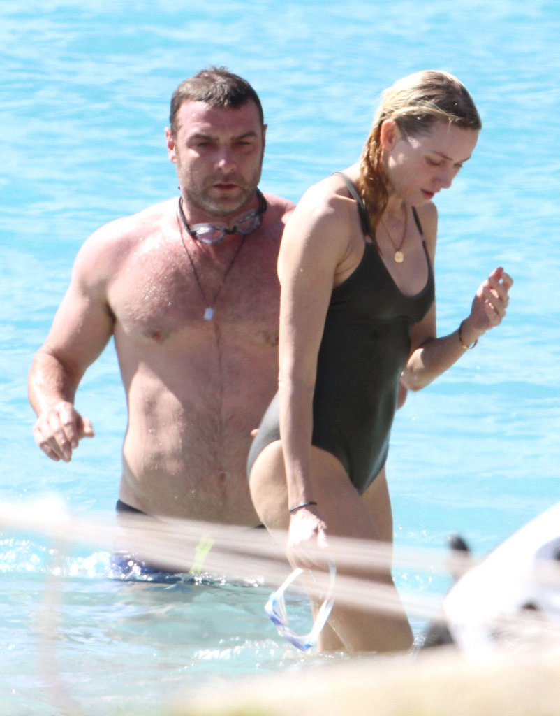 Naomi Watts took a dip with Liev Schreiber.