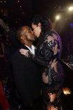 Kim Kardashian and Kanye West Celebrate NYE in Vegas With a Kiss