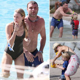 Liev Schreiber and Naomi Watts Take a Dip With Their Boys in St. Barts