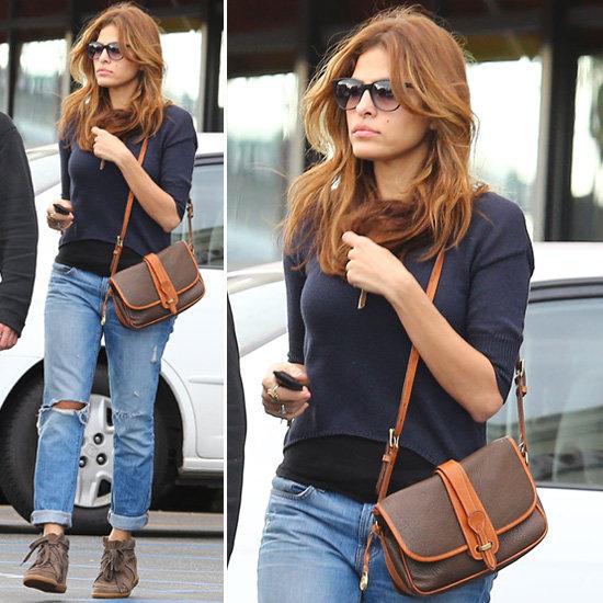 Eva Mendes Boyfirend Jeans