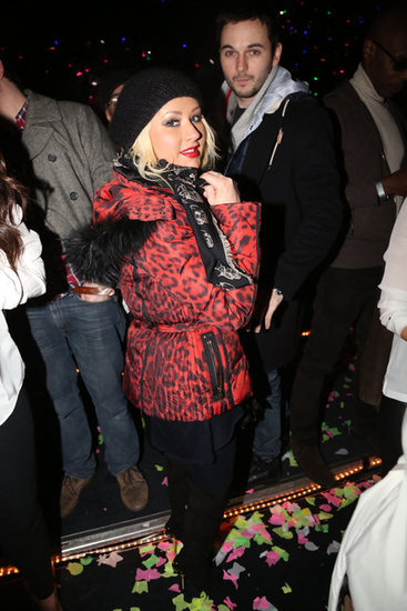Christina Aguilera and boyfriend Matt Rutler enjoyed the concert.