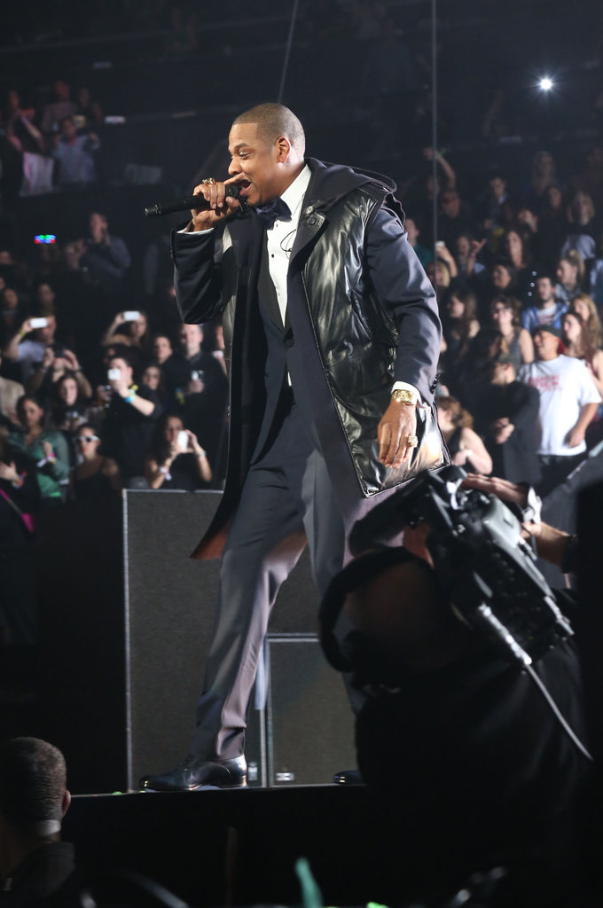 Jay-Z performed in Brooklyn on NYE.