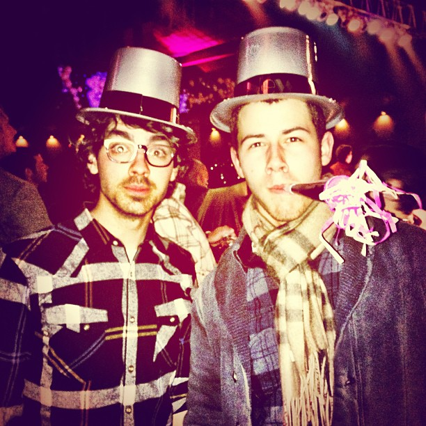 Joe and Nick Jonas rang in the new year