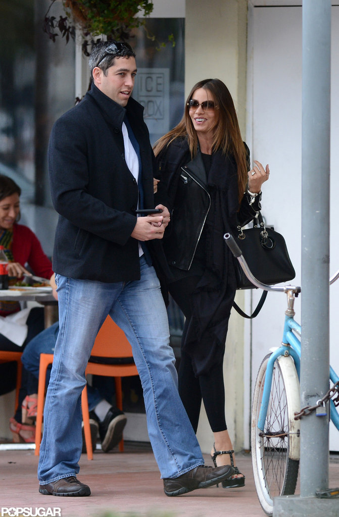 Sofia Vergara chatted with Nick Loeb as they walked around Miami.