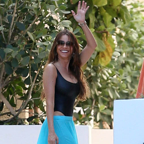 Sofia Vergara in a Cutout Swimsuit in Miami
