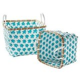 Aqua Mercado Baskets ($48/set of two; also available in Navy and Juice)