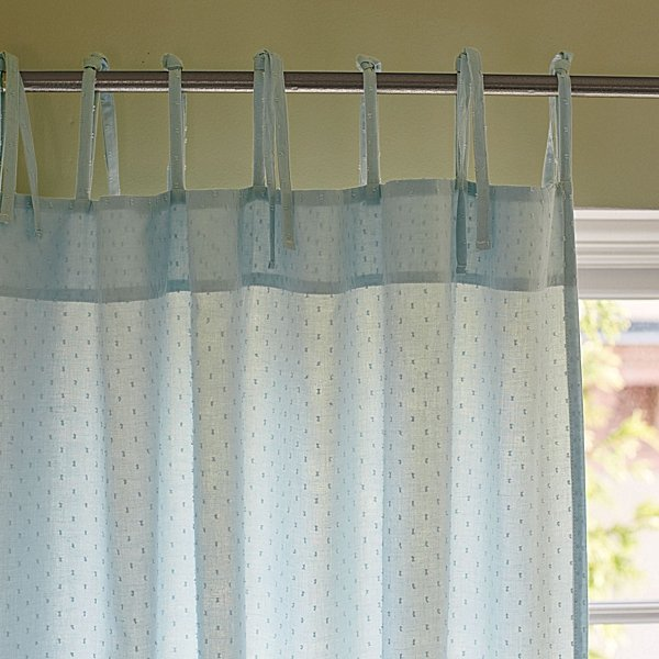 Aqua Swiss Dot Window Panel ($58-$98; also available in White and Blush)