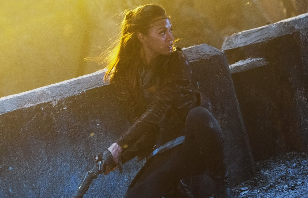 Zoe Saldana in Star Trek Into Darkness.